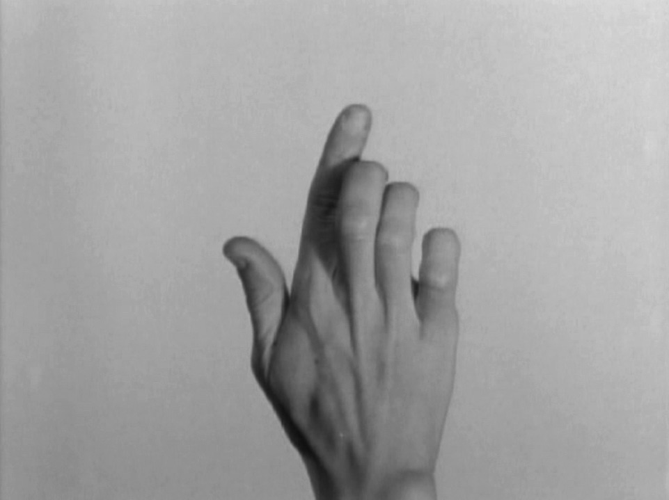 Yvonne Rainer, Hand Movie, 1966, Image courtesy of the Video Data Bank at the School of the Art Institute of Chicago, vdb.org
