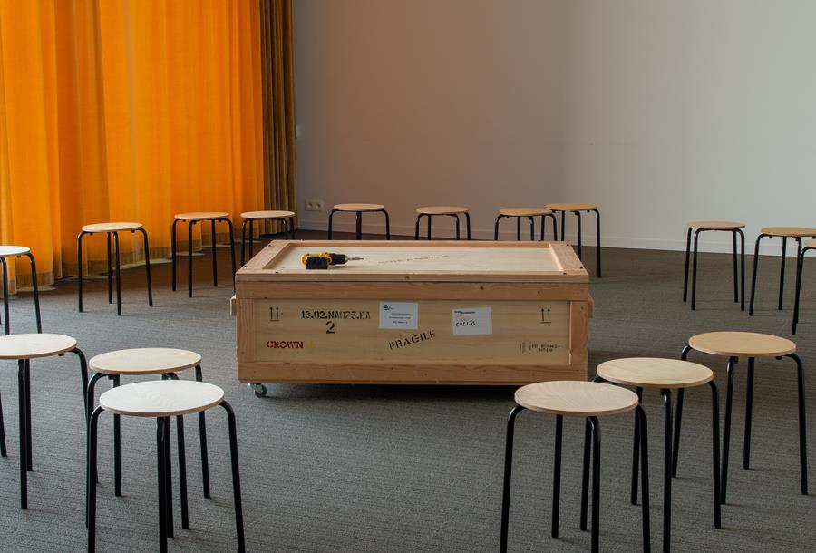Untitled Ceremony #10 (2017) at M museum, Leuven, 2019. Photo © Robin Zenner